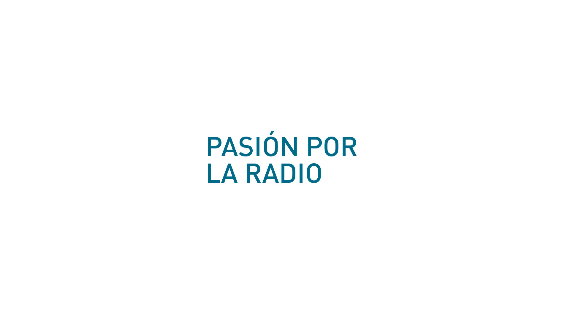 slogan radio la red Pasión por la radio
