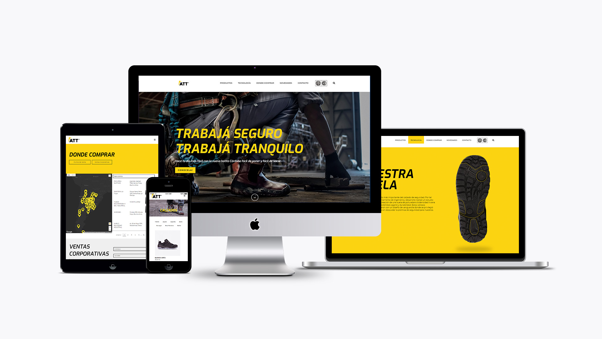 diseño sitio web att responsive imac ipad iphone macbook