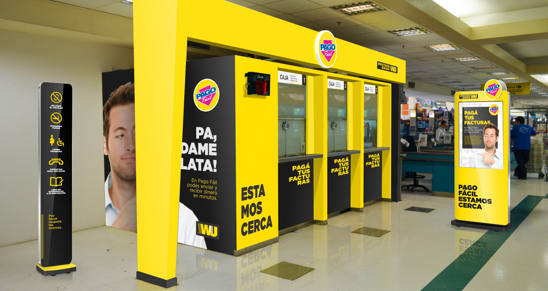 Sistema gr fico y se al tica for Oficinas western union barcelona
